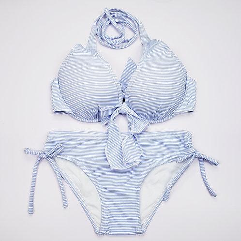 Stripes Pattern Bowknot Bikini 橫間紋蝴蝶結比堅尼