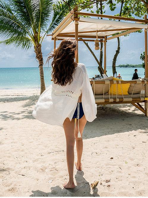 Oversize Long Sleeve Beach Coat 寬鬆長袖沙灘外套