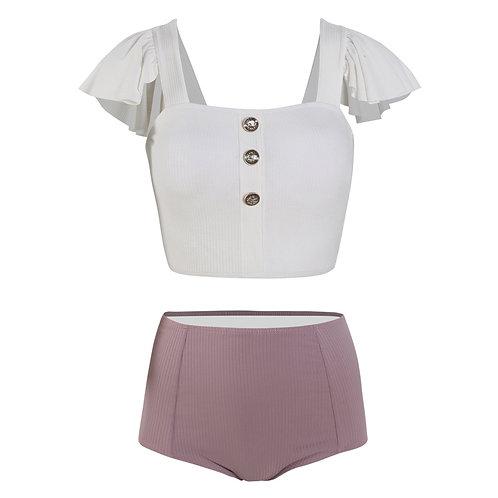 Fabric Style Leisure Swimwear Set 布紋休閒泳衣套裝