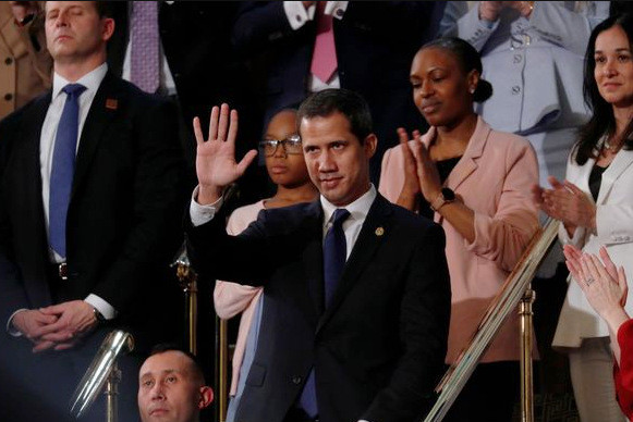 CIA Puppet Juan Guaido at the 2020 State of the Union Address