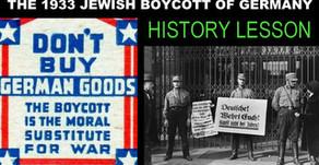 The 1933 Global Jewish Boycott of Germany
