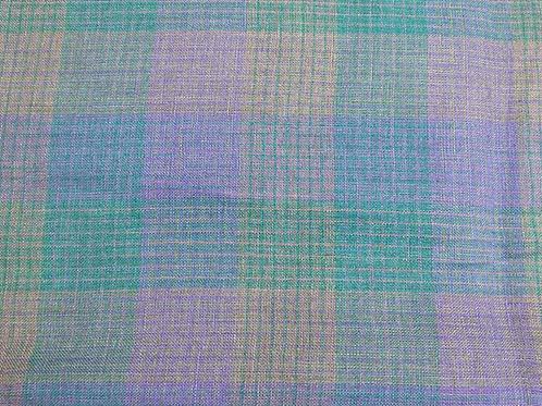 #11549 100% Linen Yarn Dye Check  (165g) 10Y