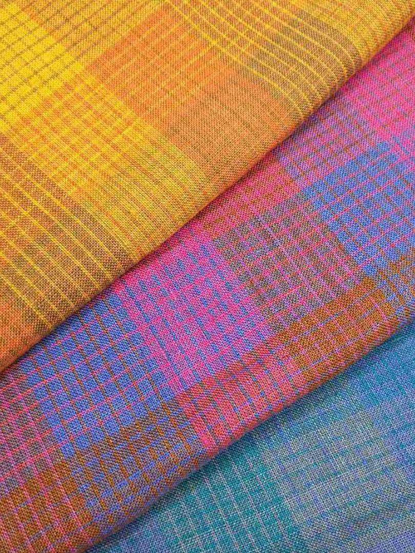 #11304 100% Linen Yarn Dye Check (170g) 10Y