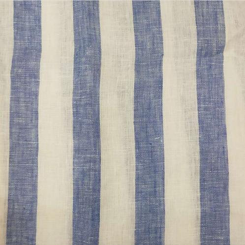 #11094 100% Linen Yarn Dye Check/Stripe  (160g) 10Y