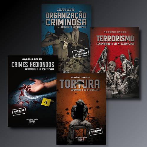 CRIMES HEDIONDOS + TORTURA + ORGANIZAÇÃO CRIMINOSA + TERRORISMO