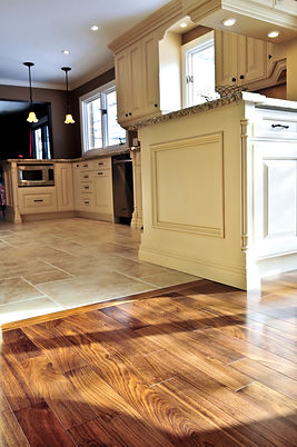 Hardwood and tile floor in residential h