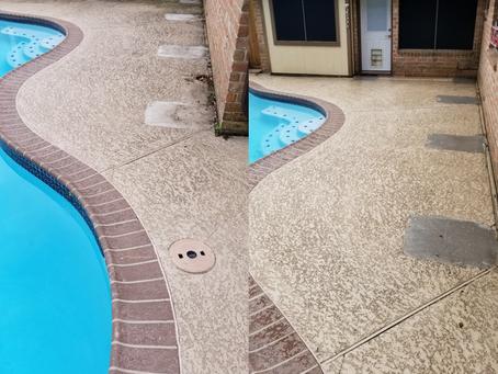 Deer Park pool deck cleaning