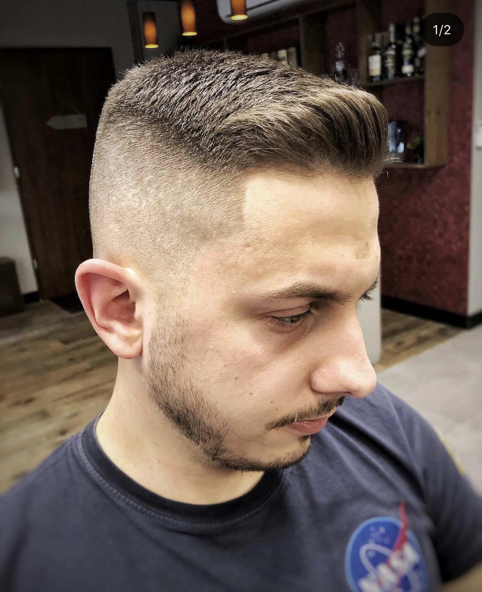 Nowoczesna fryzura męska