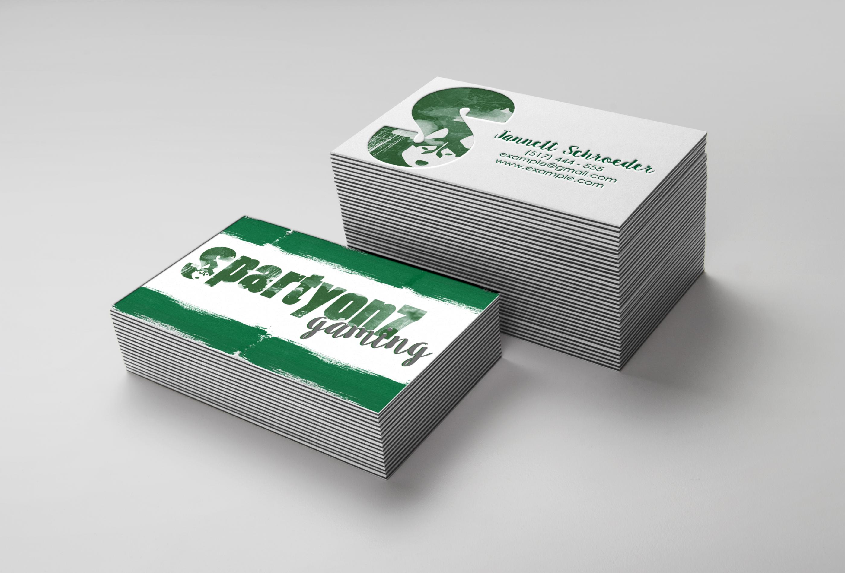Stack Letterpress Business Card MockUp