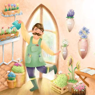 Jacinto, el amable jardinero