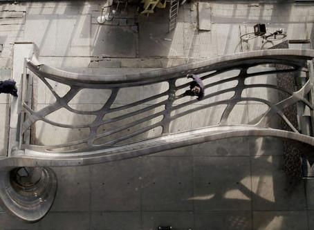 Un pont en acier imprimé en 3D à Amsterdam par MX3D
