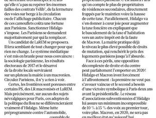 [Tribune] Serge Federbusch : «Paris en 2020 ? Ni Hidalgo ni LaREM !» (Le Figaro)