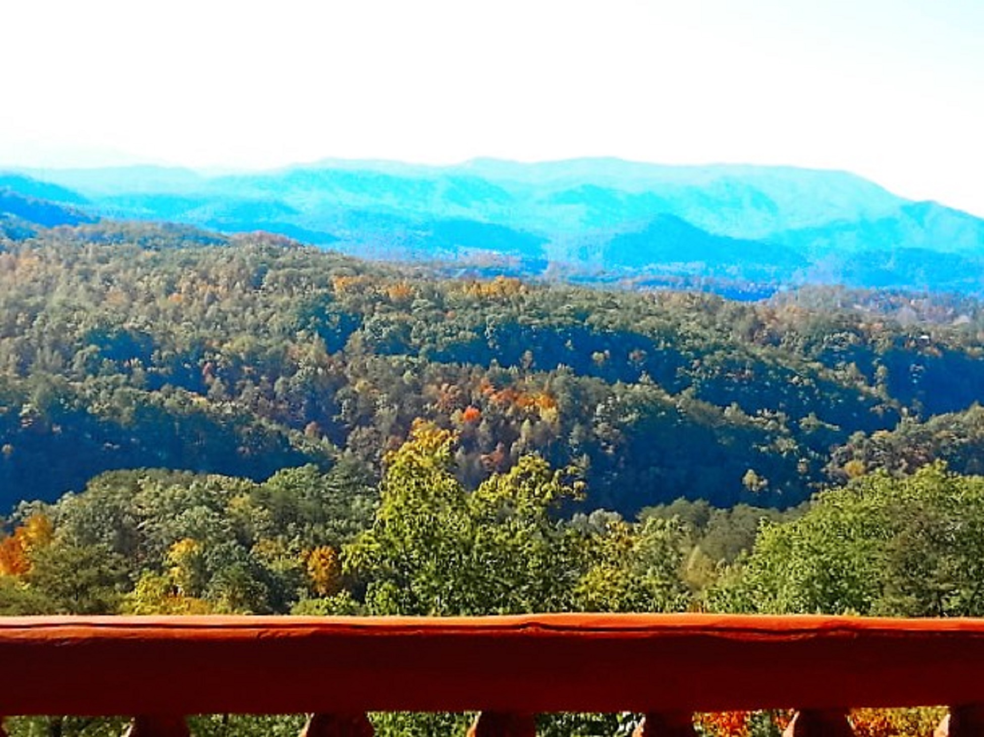Smoky Mountain view from the deck