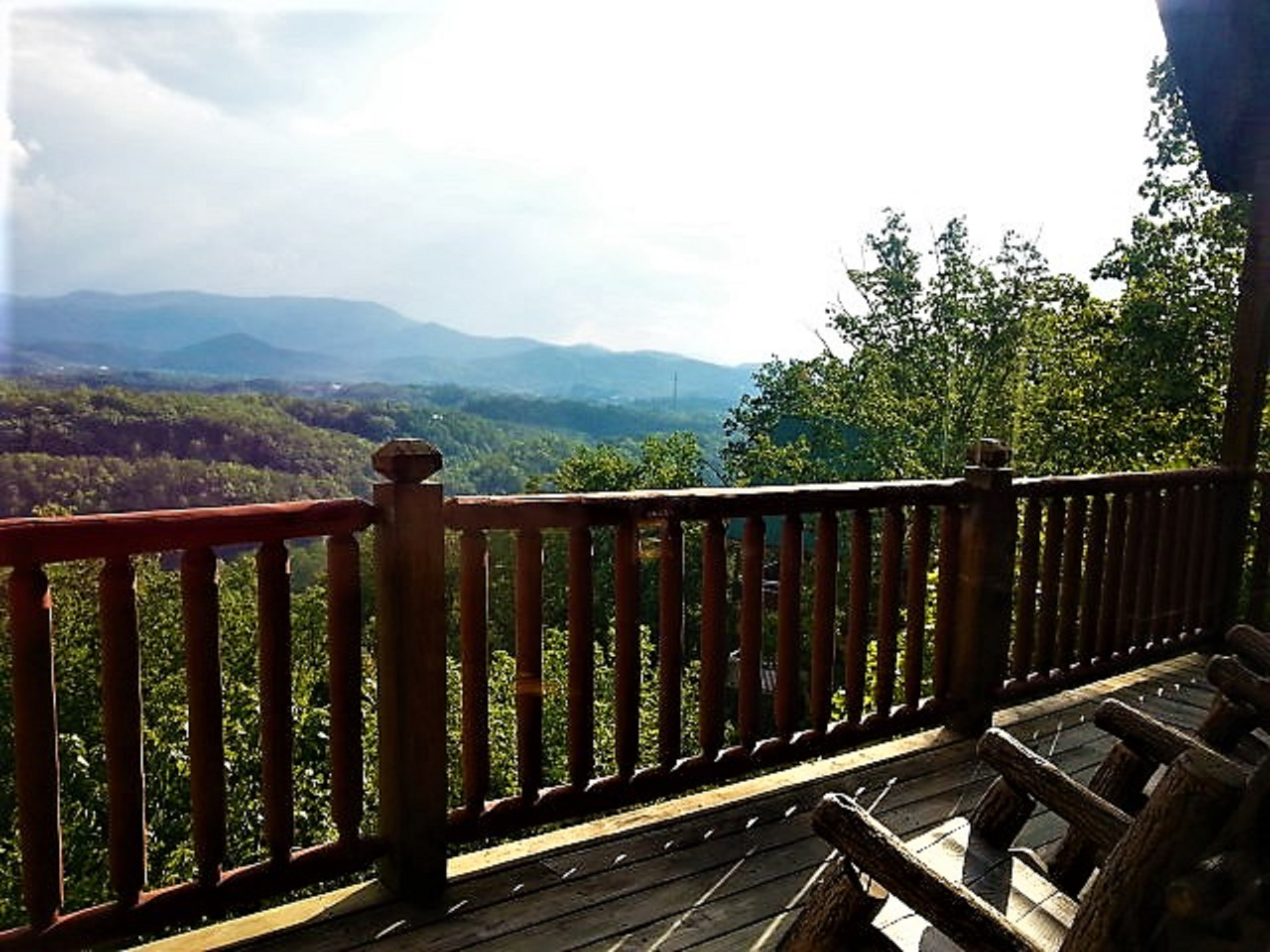 PEAKS OF BLUE DECK VIEW