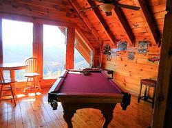 Peaks pool table and seating