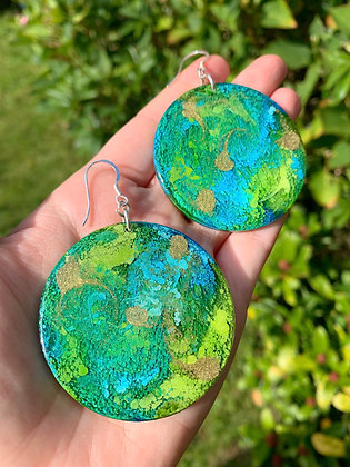 Abstract Earrings ( Earth )