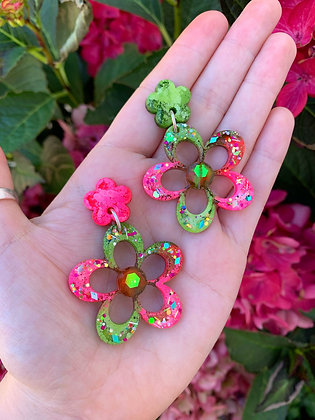 Blossom Flower ( Style 1 - Pink and Green )