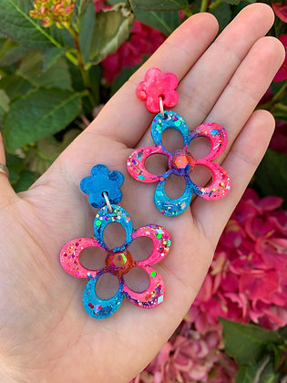 Blossom Flower ( Style 1 - Blue and Pink )
