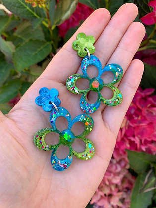 Blossom Flower ( Style 1 - Green and Blue )