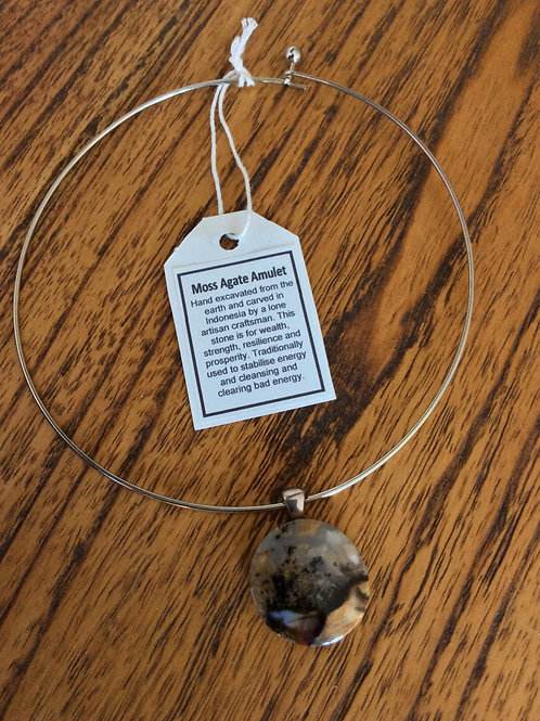 Moss Agate Amulet Necklace