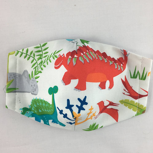 Fabric face mask - small - Stegosaurus