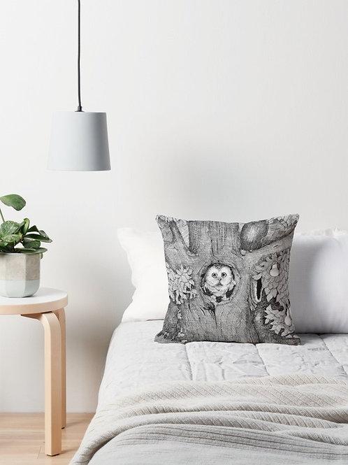 Throw Cushion - The Owl (Australian Artist Damian Nelthorpe)