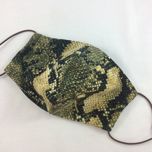 Face mask - snake skin pattern (suits women or child 8 yrs plus)