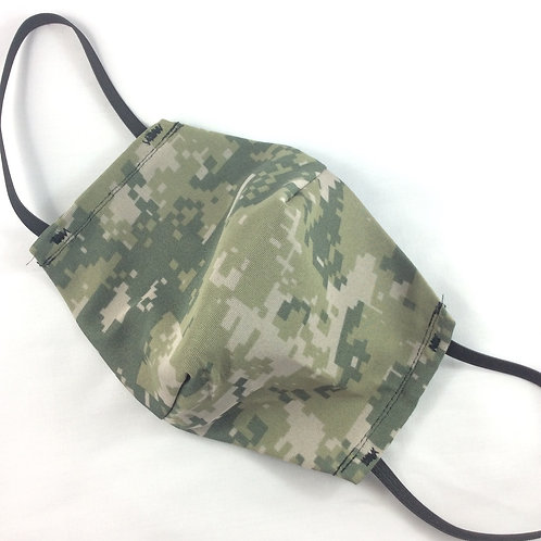 Face mask - Camo - large - 3 layers rayon, poly, cotton
