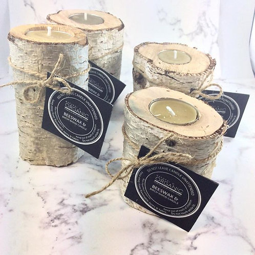 Birch Wood & Beeswax Aromatherapy Candles