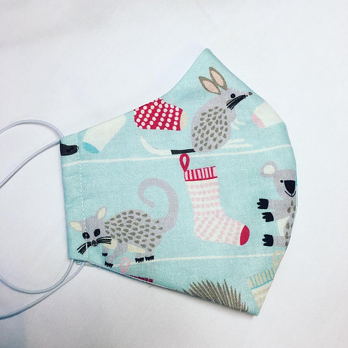 Fabric face mask- Joselyn Proust Aussie Animal Christmas