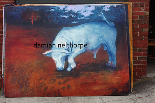 The Bull - Approx. 6 X 8 ft  Damian Nelthorpe
