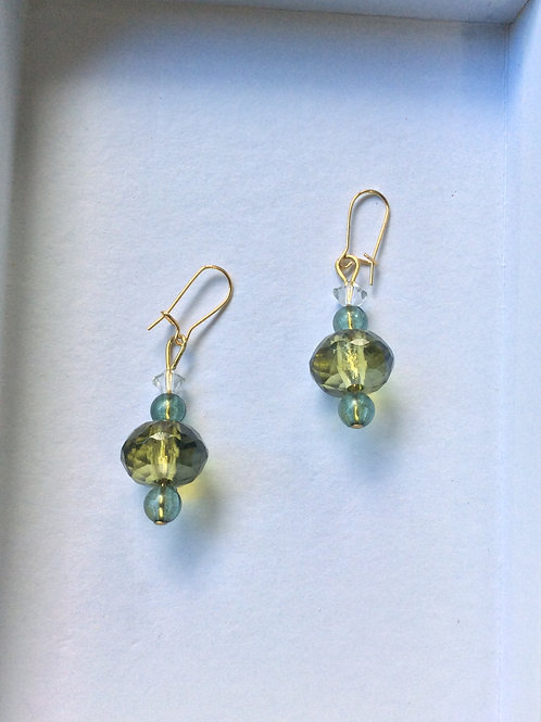 Earring (sustainable materials) green