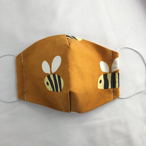 Face Mask - Bumble Bee - Medium (suits women or child 8 plus)