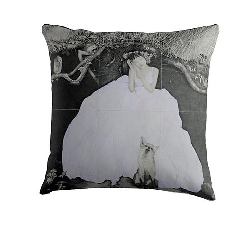 Throw Cushion - Girl in the White Dress