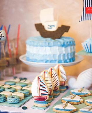 Fiesta de cumpleaños temática marina