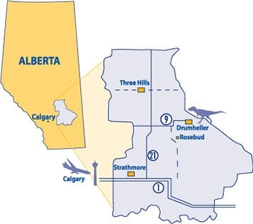 Alberta - Golden Hills Map
