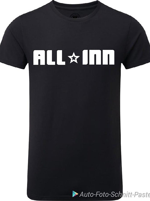 Band T-Shirt schwarz All-INN Logo weiß