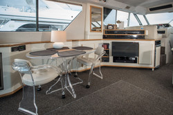 Seating area in yacht