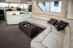 Seating in yacht
