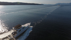 Yacht cruising on water