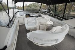 Flybridge on yacht