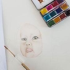 Subject_ Eadie_Watercolour on 300gsm wat