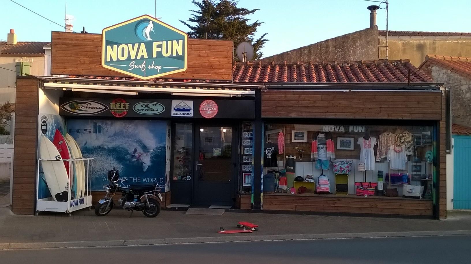 vitrine novafun surf shop vendee