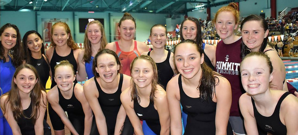 Summit High School girls swim team