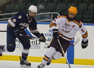 Summit High School hockey player