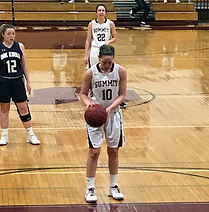 Summit High School girls basketball player shoots foul shot