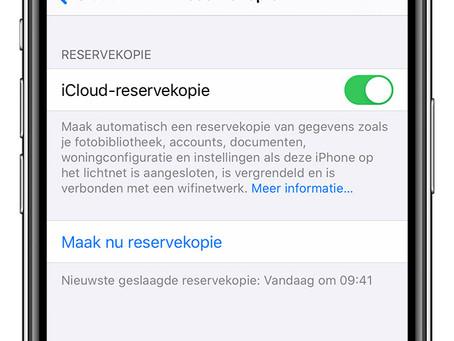 Backups maken van uw iPhone en/of iPad via iCloud in slechts 4 stappen.