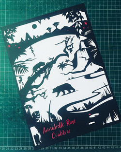 Jungle 🌴🍃🐯🦁_#papercut #paperart #pap