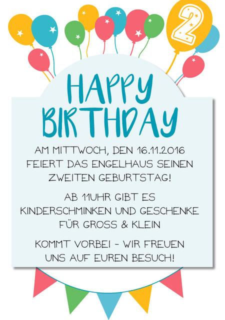 Wir feiern Geburtstag!