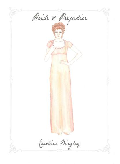 Catherine Bingley Costume Rendering
